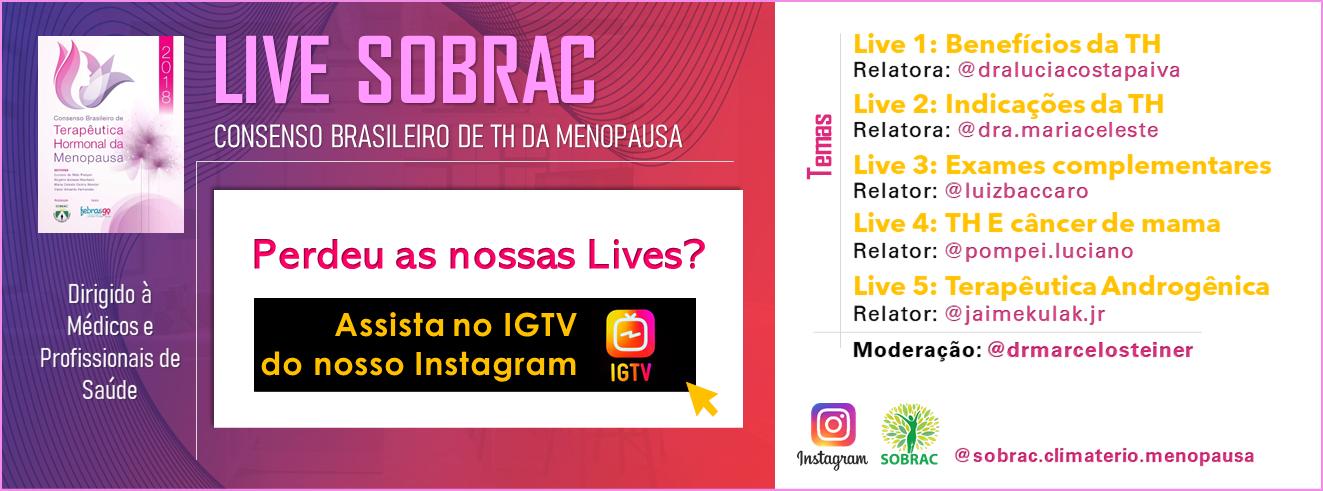Lives SOBRAQC - IGTV